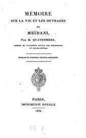 Mémoire sur la vie et les ouvrages de Meïdani: extrait du Nouveau Journal Asiatique
