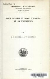 Vapor pressures of various compounds at low temperatures