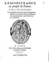 Remonstrance au peuple de France