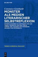Monster als Medien literarischer Selbstreflexion PDF