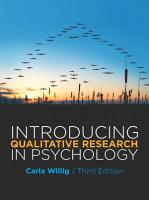 EBOOK  Introducing Qualitative Research in Psychology PDF