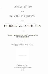 Annual Report of the Board of Regents of the Smithsonian Institution: 1903