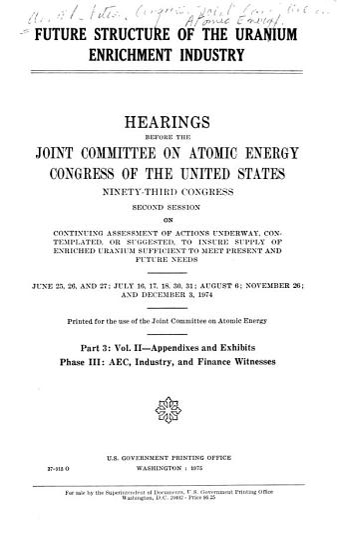 Future Structure of the Uranium Enrichment Industry PDF