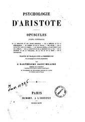 Psychologie d'Aristote: opuscules (Parva naturalia)
