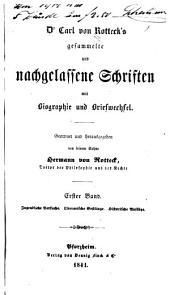 Gesammelte und nachgelassene Schriften mit Biographie und Briefwechsel: Bände 1-2