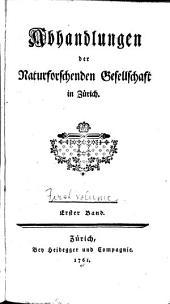Abhandlungen: Band 1