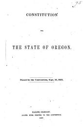 Constitution for the State of Oregon