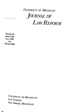 University of Michigan Journal of Law Reform PDF