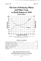 The cost of producing wheat and other crops in North Dakota in 1919