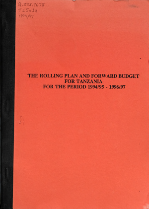 Rolling Plan and Forward Budget for Tanzania PDF