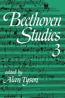 Beethoven Studies 3 PDF
