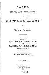 Cases Argued and Determined in the Supreme Court