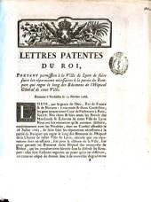 Lettres patentes portant permission a la ville de Lyon de faire faire les reparations necessaires a la partie du Rempart ... Donnees a Versailles le 12 fevrier 1766