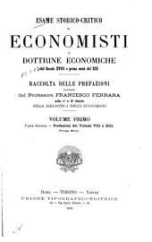 Esame storico-critico di economisti e dottrine economiche del secolo 18. e prima metà del 19: Raccolta delle prefazioni ... alla 1. e 2. serie della Biblioteca degli Economisti, Volume 1,Parte 2