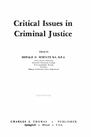 Critical Issues in Criminal Justice PDF
