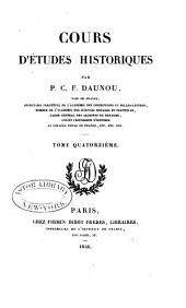 Cours d'études historiques: Volume14