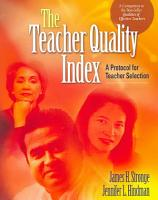 The Teacher Quality Index PDF
