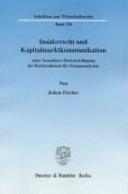 Insiderrecht und Kapitalmarktkommunikation PDF