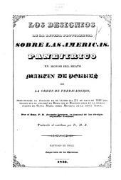 Los designios de la divina providencia sobre las Americas: panejirico en honor del beats Martin de Porres de la Orden de predicadores, pronunciado en italiano 31 de mayo, 1838