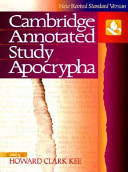 NRSV Annotated Study Apocrypha Hardcover NRAS