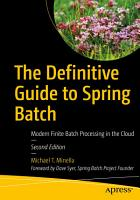 The Definitive Guide to Spring Batch PDF