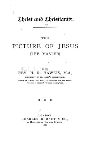 Christ and Christianity  The picture of Jesus  the master