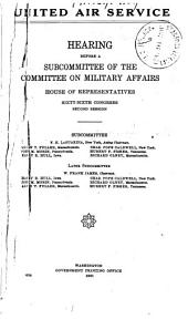 United Air Service ..., Hearings Before Subcommittee ..., Dec 4, 1919