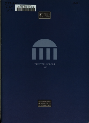 Report of the Council of Trustees for the National Library of Ireland for the Year     PDF