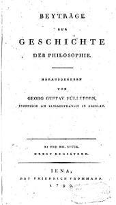 Beytrage zur Geschichte der philosophie: Volumes 11-12