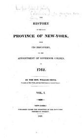 Collections of the New York Historical Society: Volume 5, Part 1