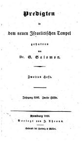 Predigten in dem neuen Israelitischen Tempel