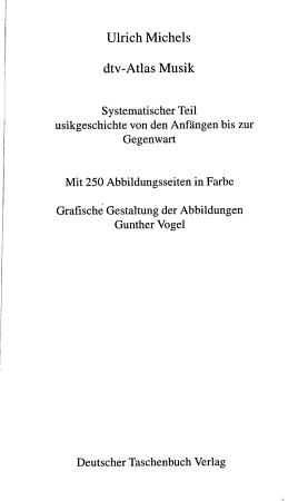 Dtv Atlas Musik PDF