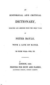 An Historical and Critical Dictionary: Volume 3