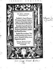 De morte Claudii Caesaris, nuper in Germania repertus cum scholiis Beati Rhenani