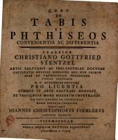 De tabis et phthiseos convenientia ac differentia