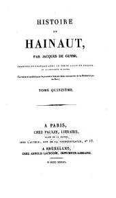 Histoire de Hainaut: Volume15