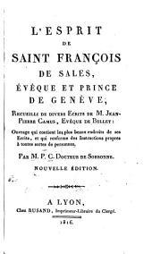 L'esprit de Saint François de Sales, évêque et prince de Genève