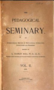 The Pedagogical Seminary PDF