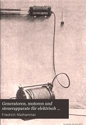 Generatoren, motoren und steuerapparate für elektrisch betriebene hebe- und transportmaschinen