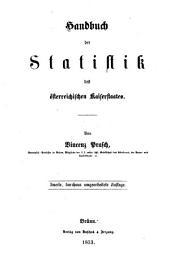 Handbuch der Statistik des österreichischen Kaiserstaates: Band 1