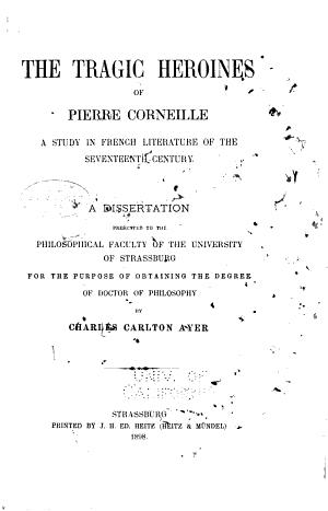 The Tragic Heroines of Pierre Corneille