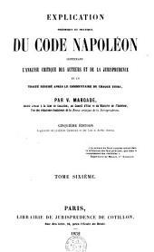 Elémens du droit civil français ou Explication méthodique du code Napoléon: Volume6