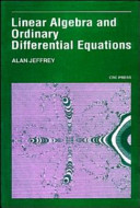 Linear Algebra and Ordinary Differential Equations  softcover