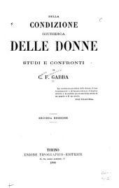 Della condizione giuridica delle donne: studi e confronti