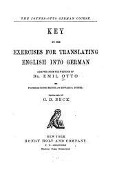 Key to the Exercises for Translating English Into German