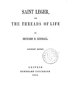 Saint Leger  Or The Threads of Life PDF