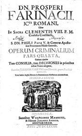 Operum Criminalium Pars Quarta