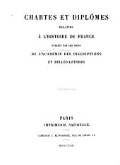 Recueil des actes de Lothaire et de Louis V, rois de France (954-987)