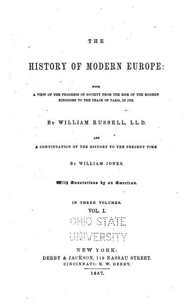 Download The History of Modern Europe Book
