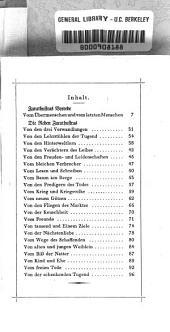 Also sprach Zarathustra: ein Buch für Alle und Keinen, Band 1